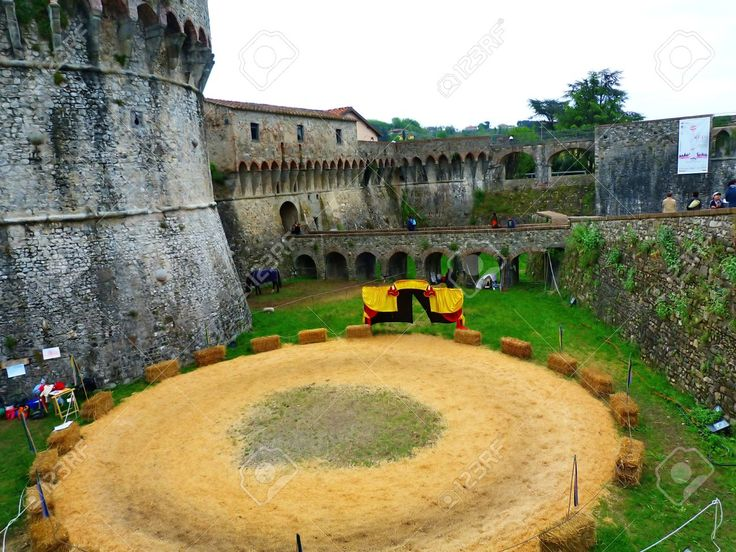 Italy, Sarzana, Pisan Fortress Of Firmafede Stock Photo, Picture And Royalty Free Image. Pic 14720379.