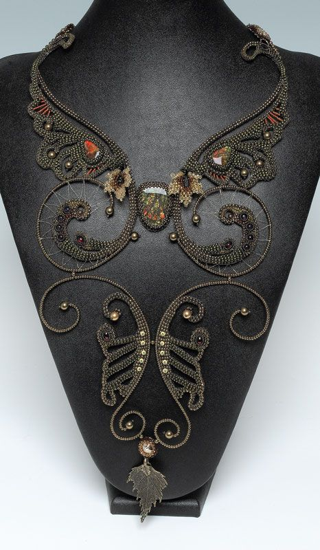 Necklace | Designer ? (anyone got any idea) 'Glory of Forgiveness'  Beads and Button 2012 finalist.