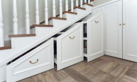Under Stairs Shelves best storage