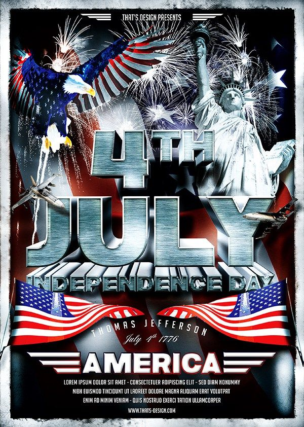 July 4th Independence Day Flyer Template                                                                                                                                                                                 Plus