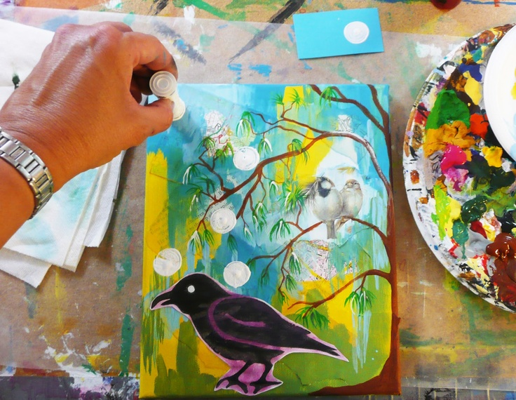"""that artist woman: """"Daring Adventures in Paint"""" - book and project of painted collage"""