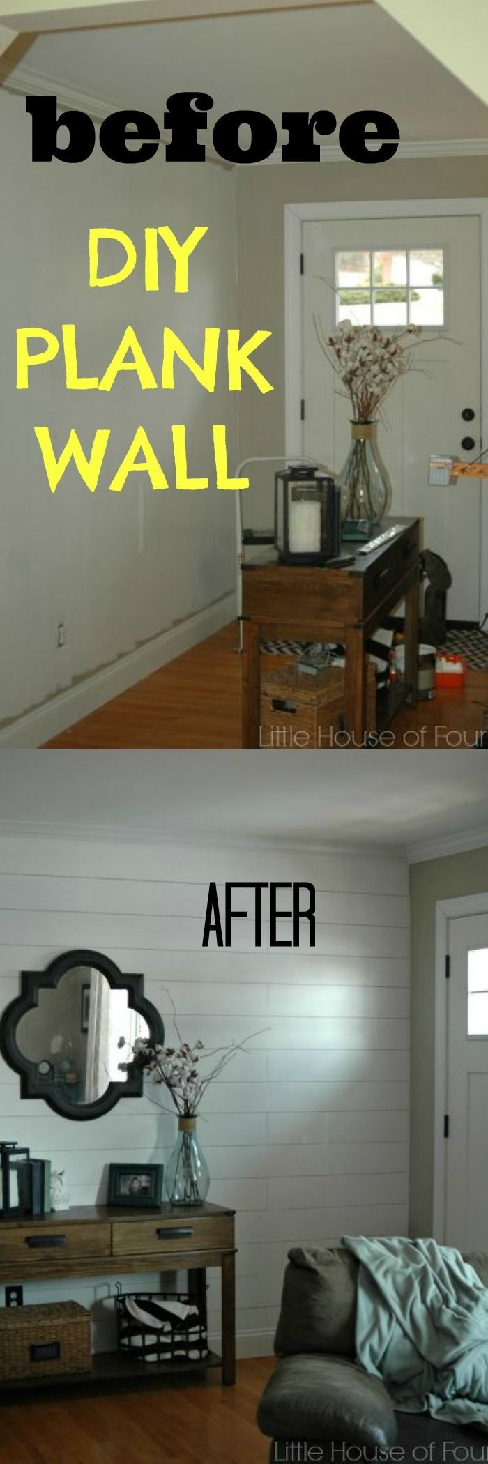 DIY Plank wall for $50.00 !
