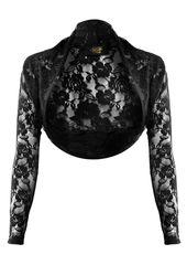 Shrug Black Lace