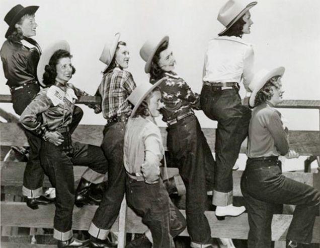 Old School Levi cowgirls
