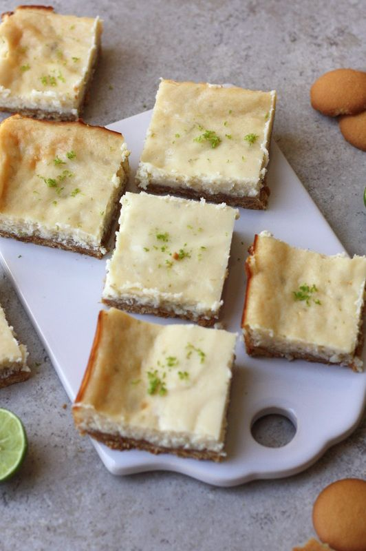 Key Lime Cheesecake Bars with Nilla Cookie Crust