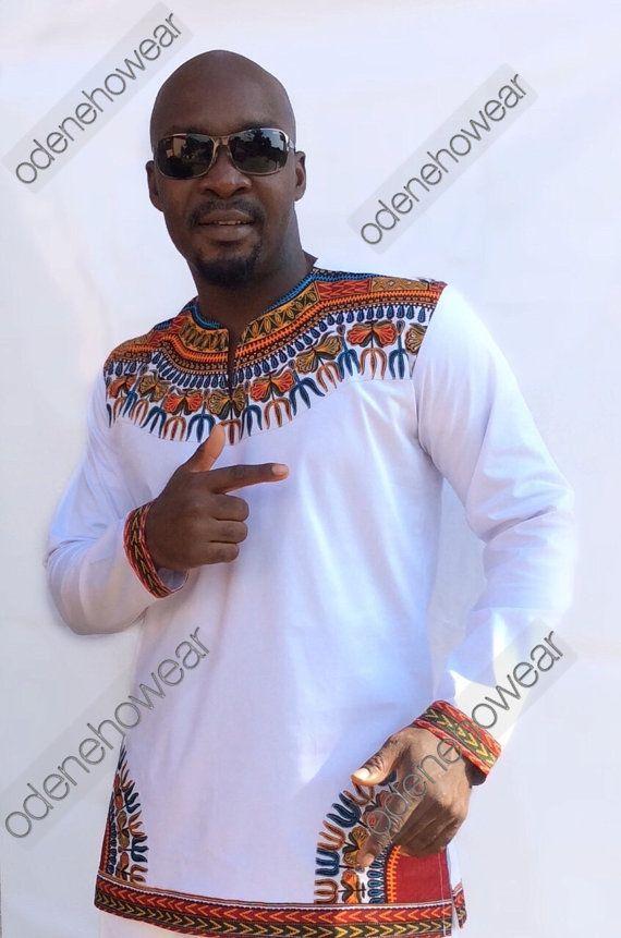 Afrikanische Kleidung / Odeneho Wear Herren White von Odenehowear