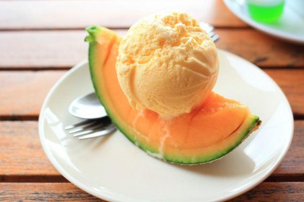 Recette - Glace au melon   Notée 4.2/5