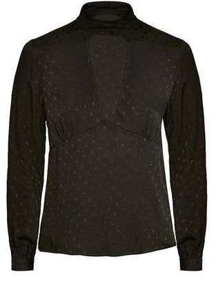 Kaufe meinen Artikel bei #Kleiderkreisel http://www.kleiderkreisel.de/damenmode/blusen/152432393-urban-outfitters-bluse-high-neckline-black-gr-s