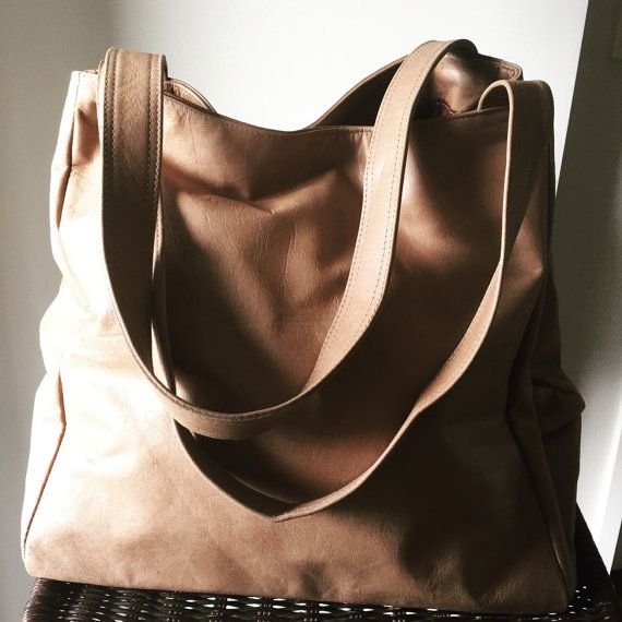 Gigi bag huge sized leather tote bag with strong by TanaandHide