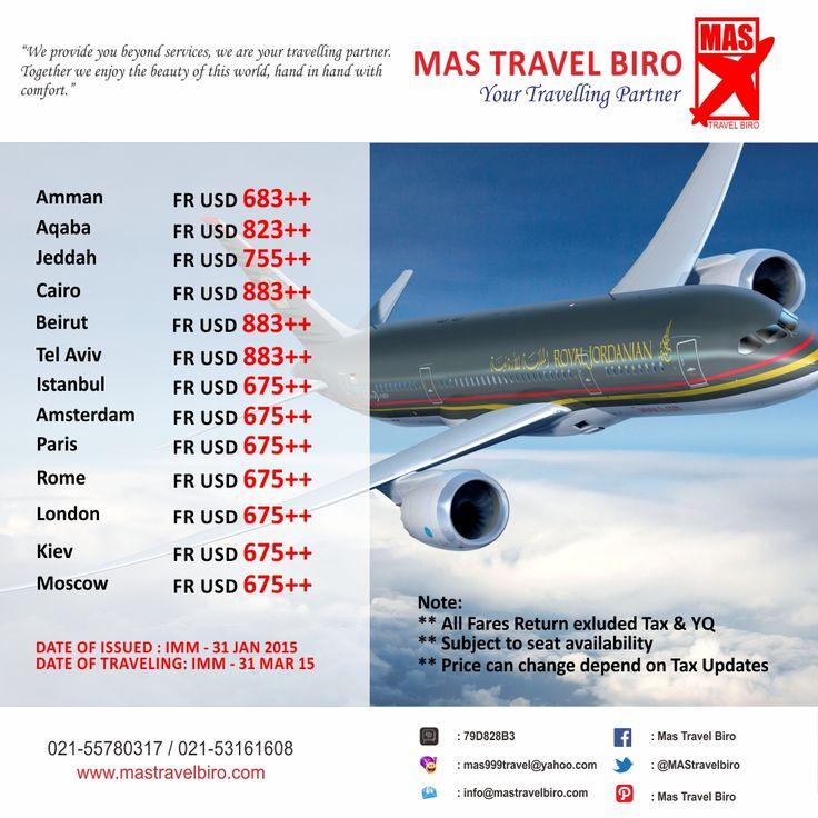 Sekarang Travelers memiliki lebih banyak pilihan untuk terbang dengan RJ ke banyak tujuan populer. Book Now. Promo sampai 31 Januari 2015.