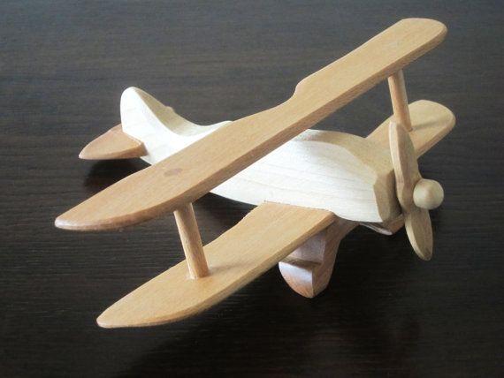 Vintage Albatros aircraft aviator biplane HANDMADE NEW wood