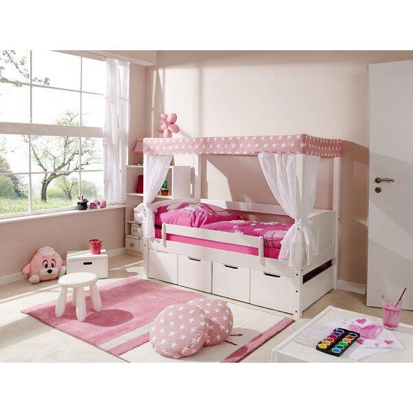 Himmelbett Von Mit Schubladen 80 X 160 Cm Himmelbetten Bett