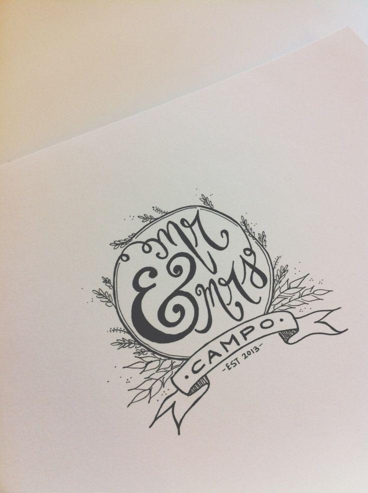 Inspiration: handmade wedding logo: