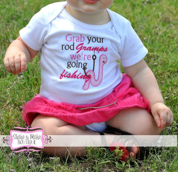 Personalized Fishing Shirt Or Onesie For Boy Or Girl