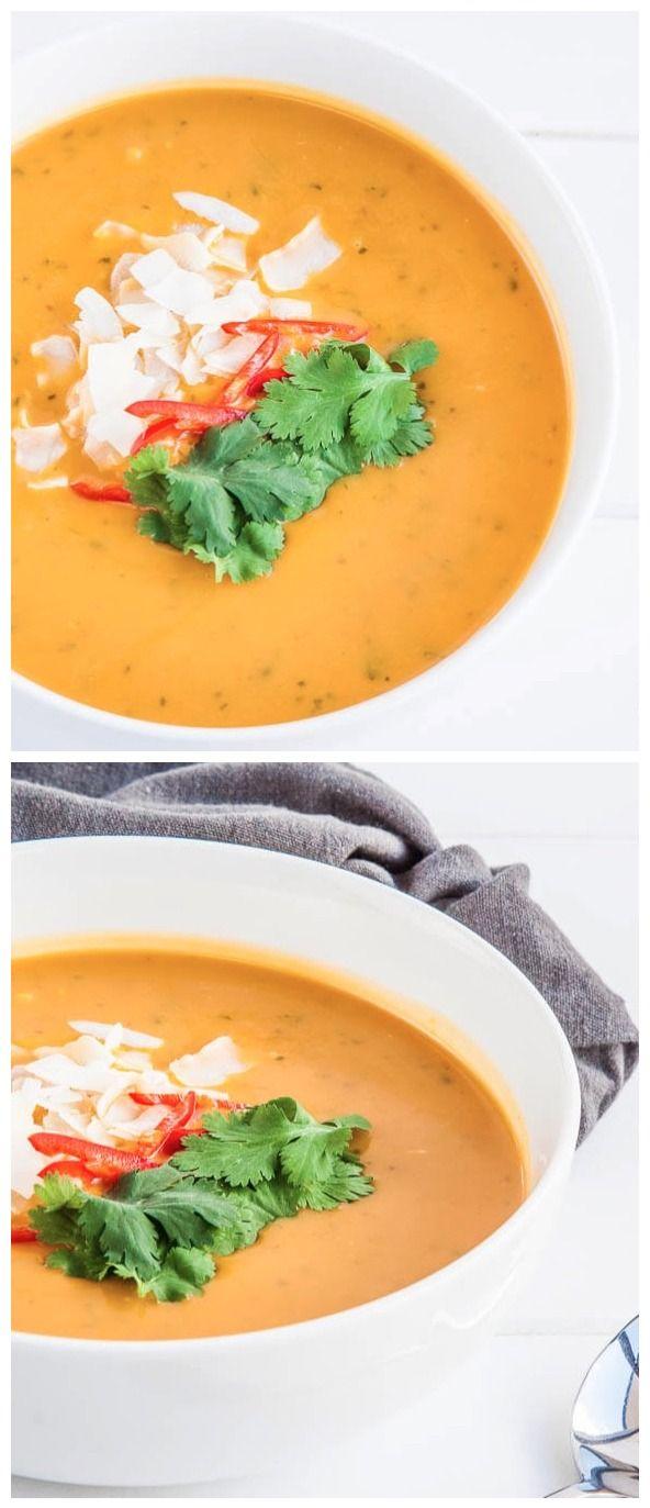 Thai Pumpkin Soup with Coconut Milk Recipe