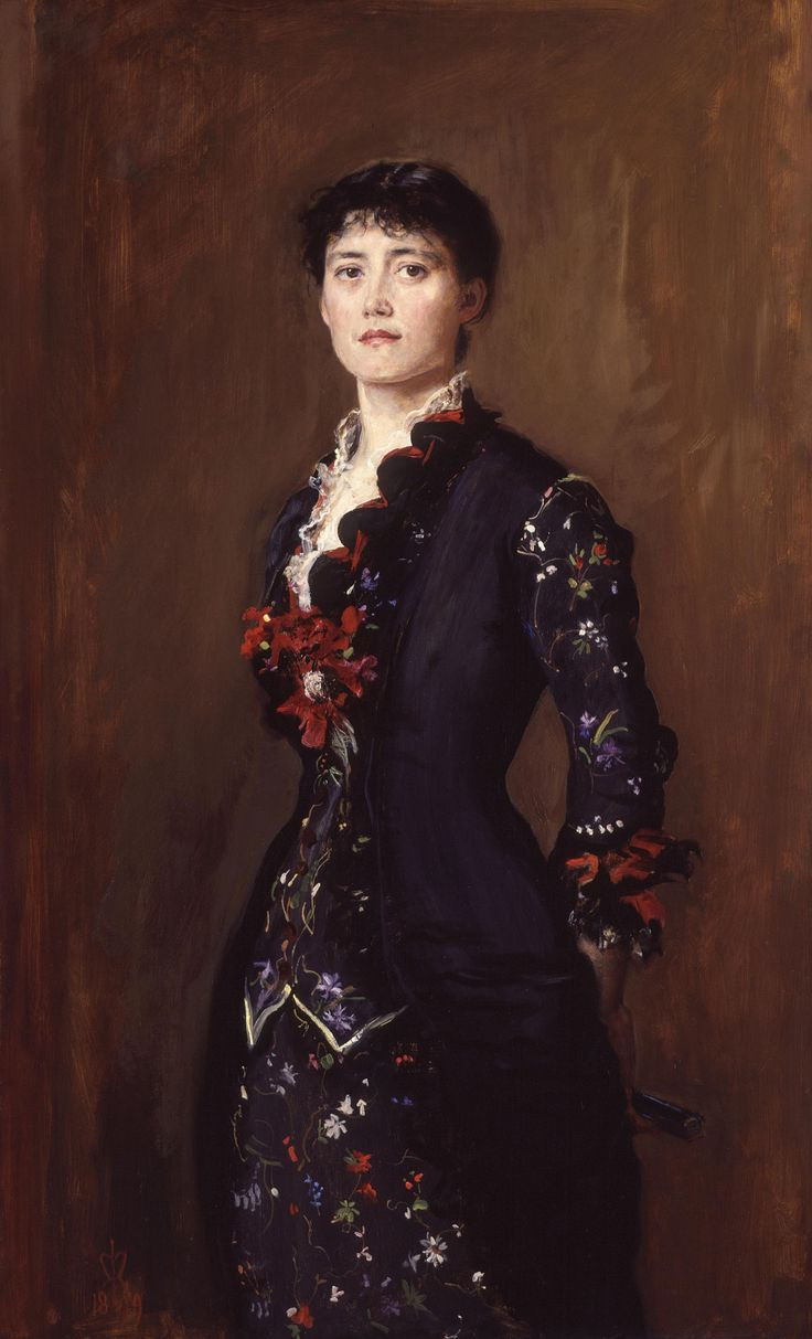 Louise Jane Jopling (née Goode, later Rowe)  by Sir John Everett Millais, 1st Bt  oil on canvas, 1879  48 7/8 in. x 30 1/8 in. (1240 mm x 765 mm)  Purchased with help from the Art Fund and the Heritage Lottery Fund, 2002  Primary Collection  NPG 6612