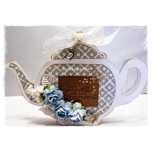Dutch Doobadoo Card Art Template - Teapot 713500