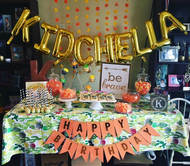 Kahlyns Kidchella Coachella Birthday Birthday Party