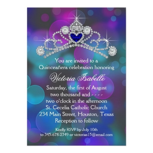 Purple Pink Teal Blue Quinceanera Invite http://www.zazzle.com/purple_pink_teal_blue_quinceanera_invite-161576940097407160?rf=238133515809110851