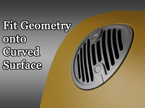 Advanced Technique #8 - Fit Geometry onto Curved Surface