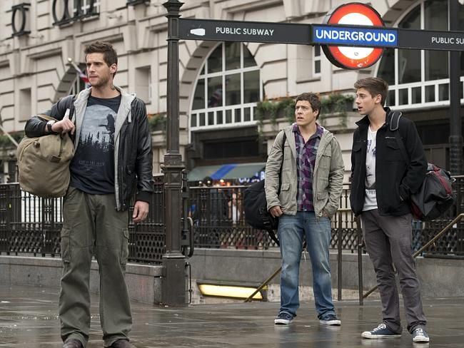Home and Away stars Dan Ewing, Lincoln Younes and Stephen Peacocke in London Eps