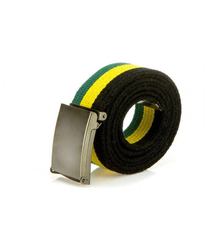 Pánsky zeleno-žlto-čierny opasok