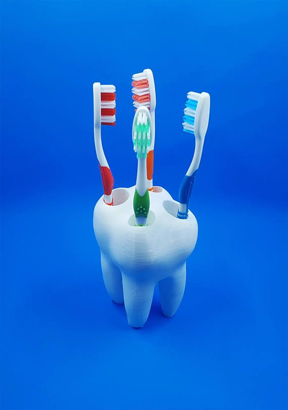 Big Tooth Toothbrush Holder - Kids Toothbrush Holder - Toothbrush Holder - Dentist Office Decor - Bathroom Decor