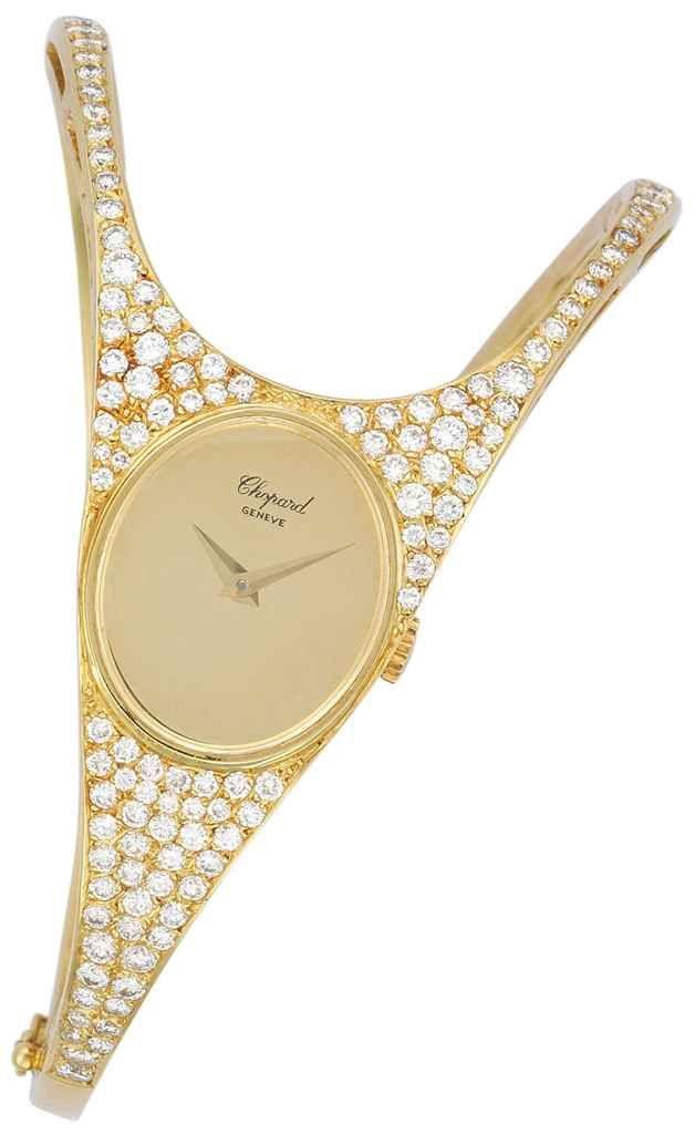 A diamond wristwatch, by Chopard #christiesjewels #watch