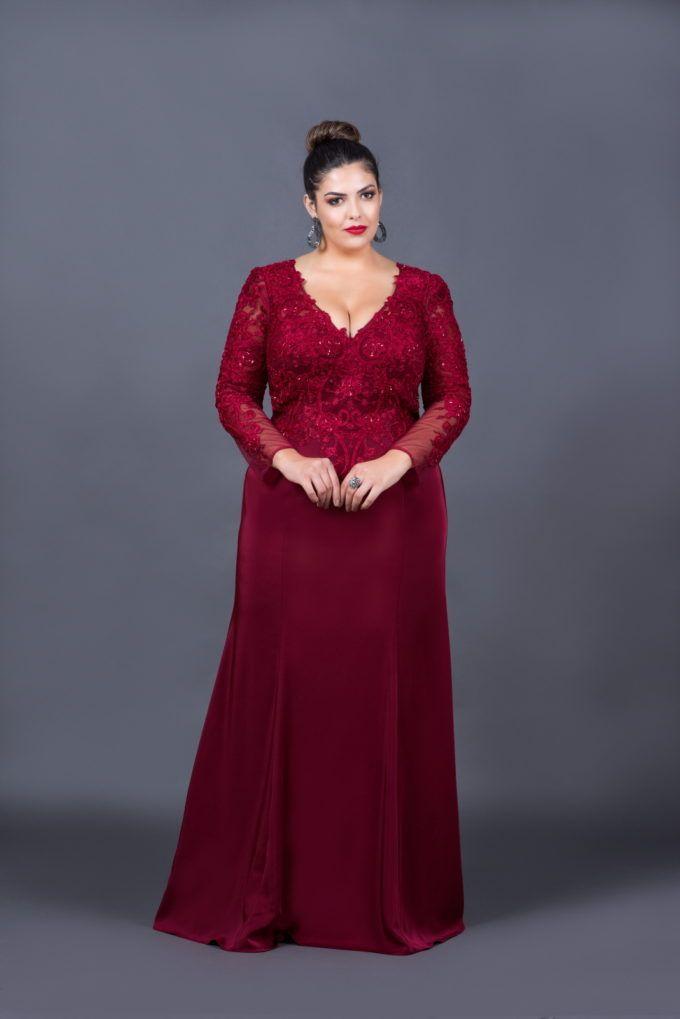 lindo vestido de festa marsala para senhora