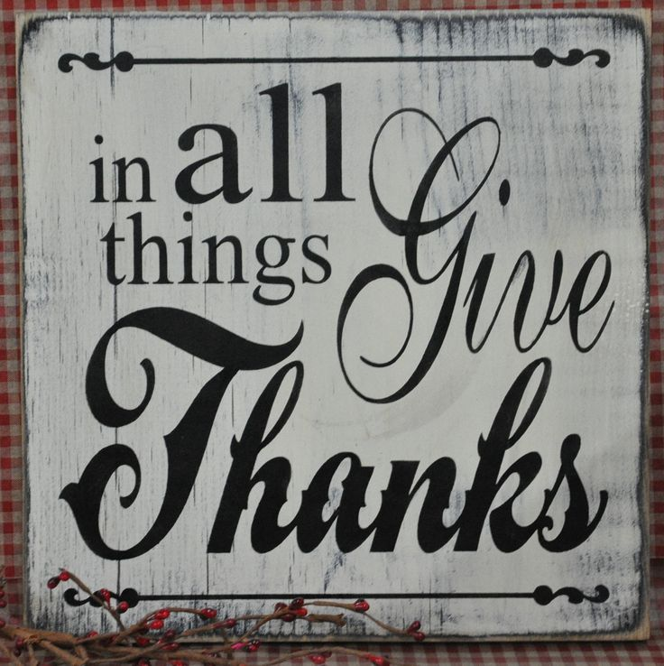 Primitive Rustic Western Country In All Things Give Thanks Wood Sign Shelf Sitter. $19.99, via Etsy.