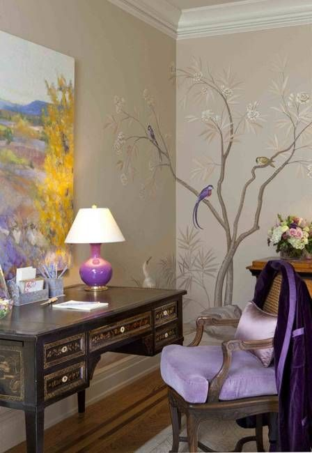 modern wall decoration with art painting