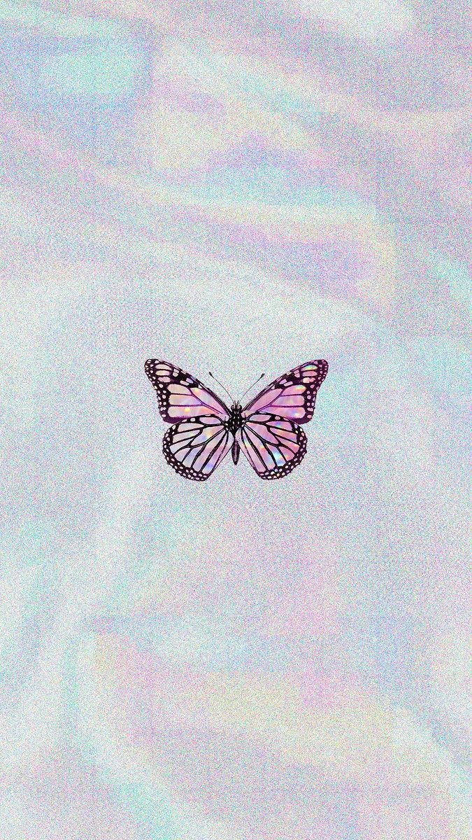 Download Premium Illustration Of Pink Butterfly On A Holographic In 2020 Butterfly Wallpaper Iphone Purple Wallpaper Iphone Iphone Wallpaper Tumblr Aesthetic