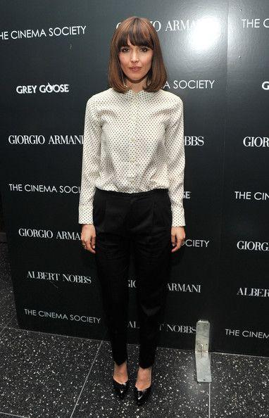 "Rose Byrne Photos: Giorgio Armani & The Cinema Society Host A Screening Of ""Albert Nobbs"" - Arrivals"