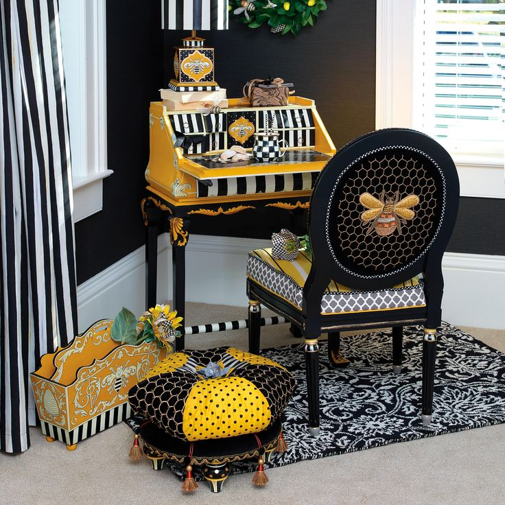 Bring the bees into your home with honeycomb details.