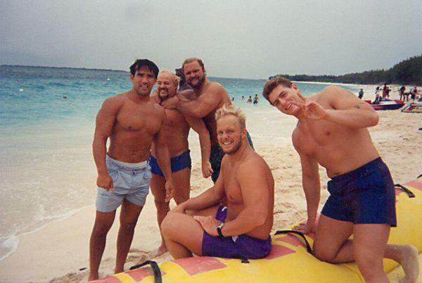 Ricky Steamboat, Kevin Sullivan, Arn Anderson, Steve Austin and William Regal.