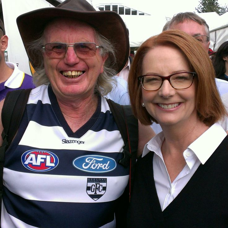 Do you know how hard it is to convince a Pm to barrack for Geelong?
