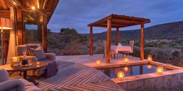 Kwandwe Great Fish River Lodge suite deck & pool