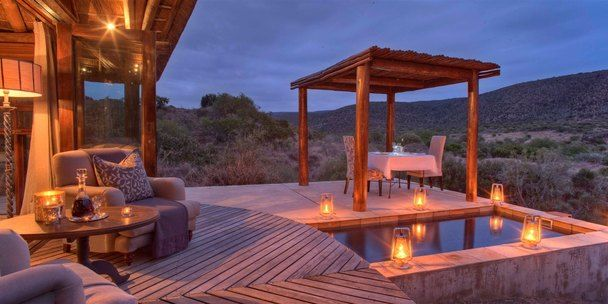Kwandwe Great Fish River Lodge suite deck & pool