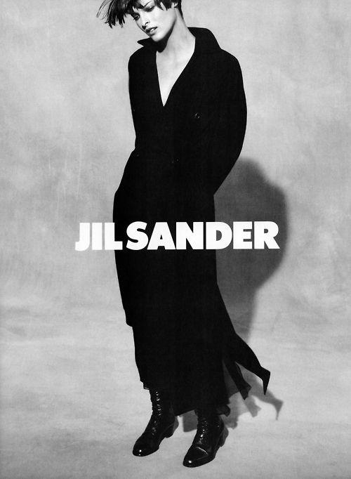 Linda Evangelista by Peter Lindbergh - Jil Sander F/W 1993