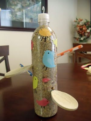 recycled bird feeders
