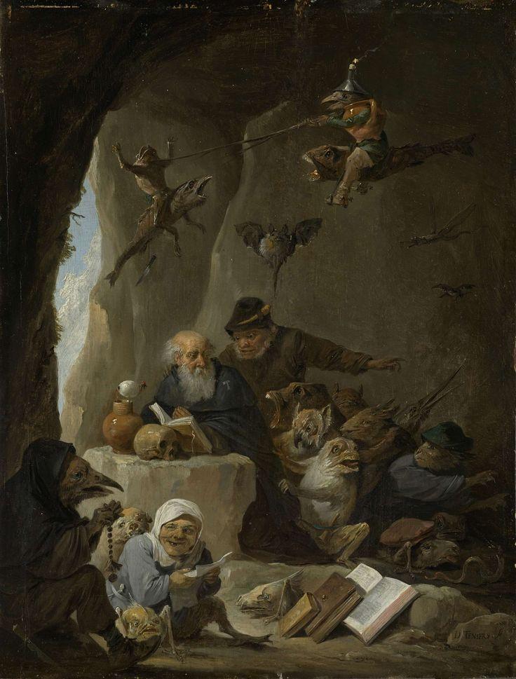 De verzoeking van de heilige Antonius de Heremiet, David Teniers (II), 1640 - 1660