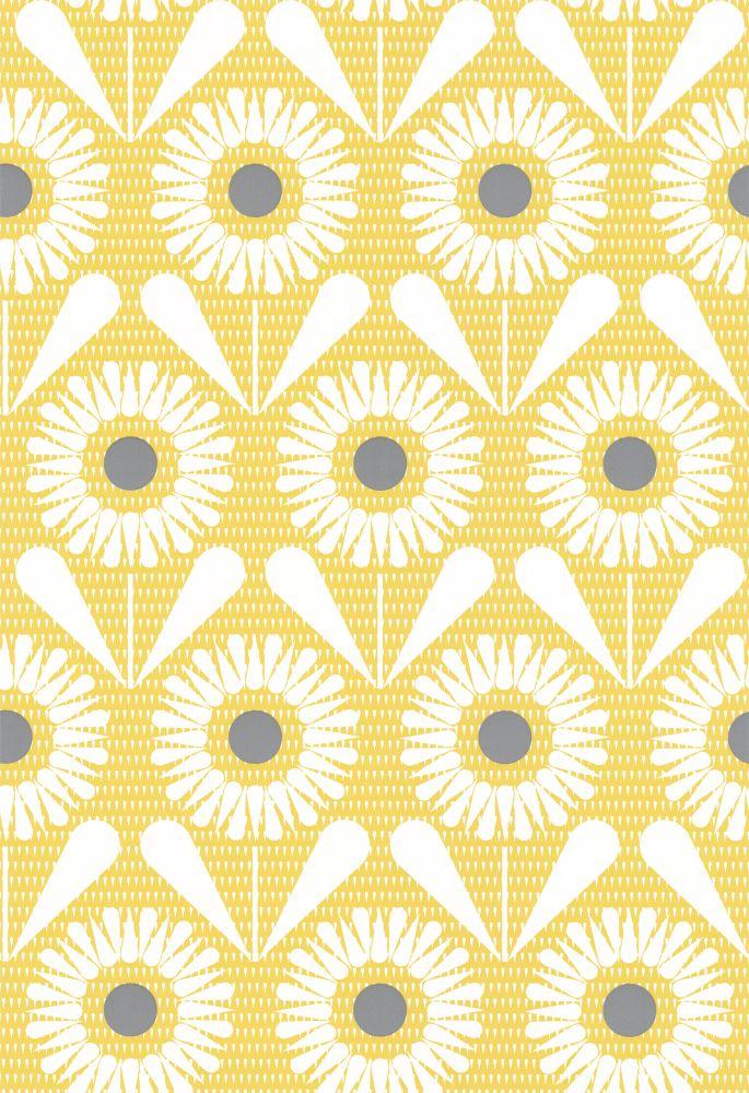 Layla Faye Sunny Flower Buttercup Yellow Wallpaper main image
