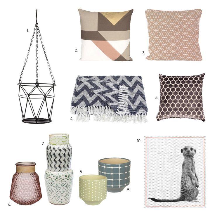 Geometrische prints Woontrend 2017