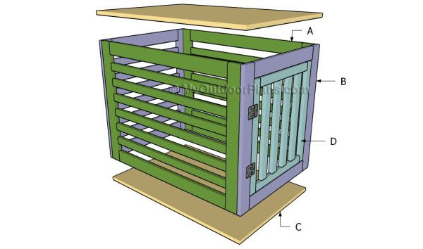 diy wooden dog crate - Google Search