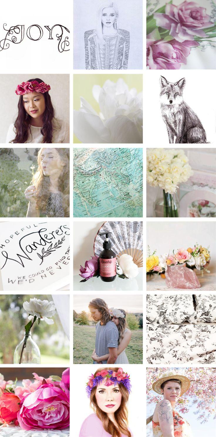 Rose Tinted Illustration // Instagram posts October 2014