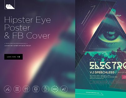"""Check out new work on my @Behance portfolio: """"Hipster Eye Party Posters"""" http://be.net/gallery/33071449/Hipster-Eye-Party-Posters"""