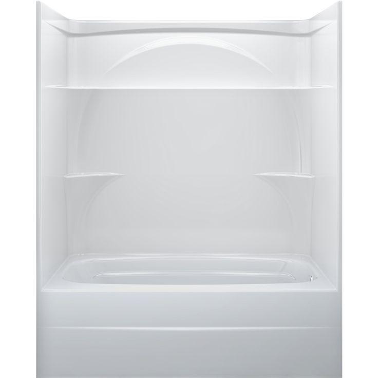 Delta White Acrylic OnePiece Shower with Bathtub