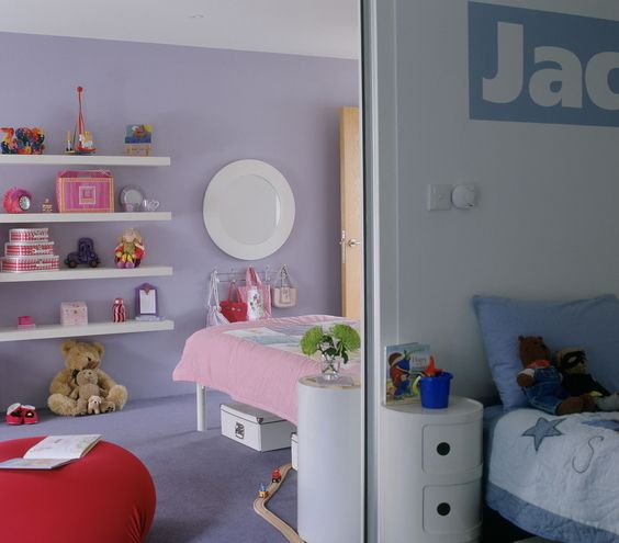 Kids Shared Room Decorating Ideas: 17 Best Images About Split Children's Room On Pinterest
