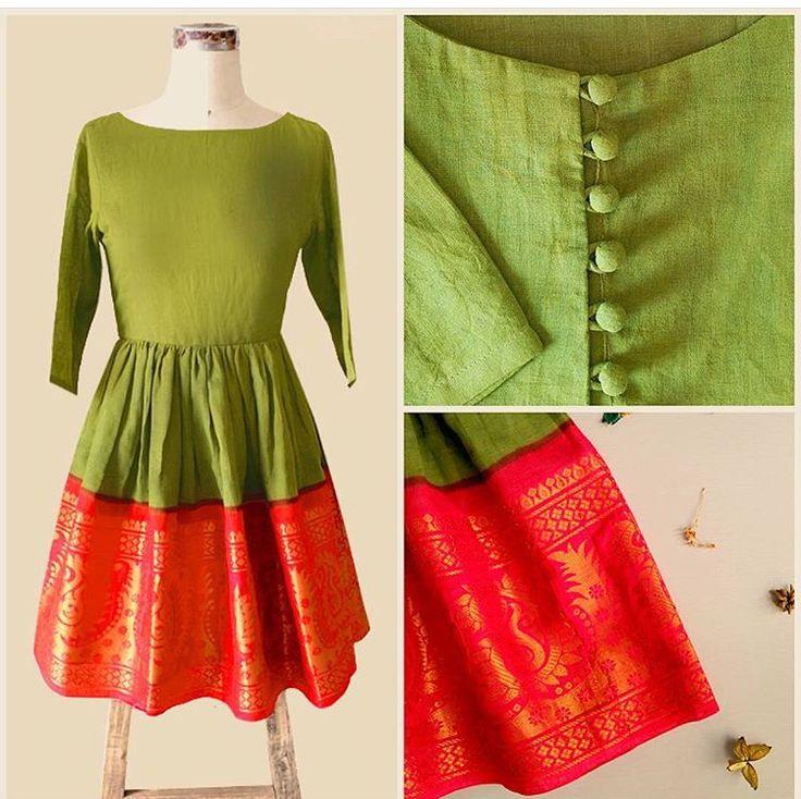 Mogra designs # border dress # classic bridesmaid Mehandi look # Indian fashion