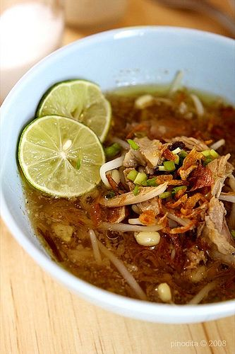 Soto Kudus ala Mamin - We LOVE this soto - a Central Java specialty.   Indonesian Food